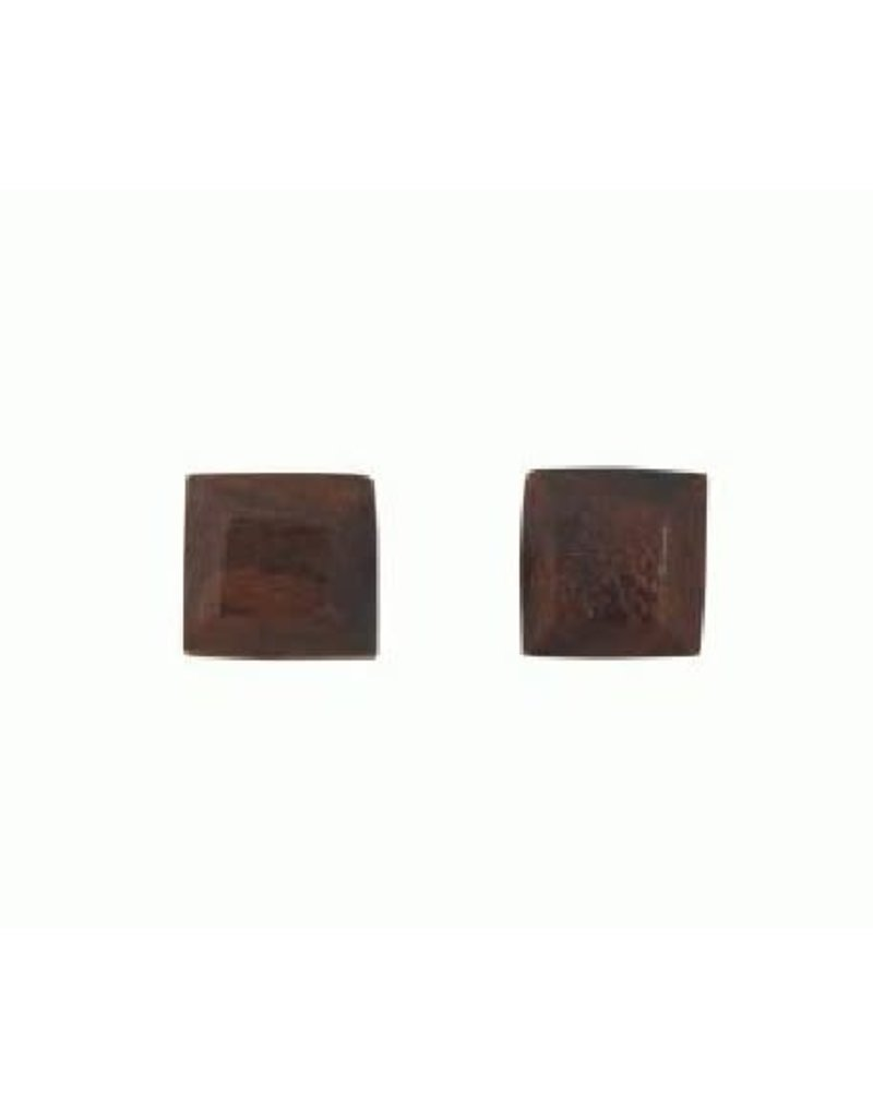 Sasha Association for Crafts Producers Rosewood Stud Earrings