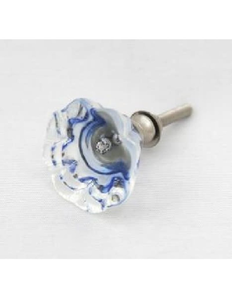 Sasha Association for Crafts Producers Blue Glass Pull Knob