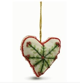 Sasha Association for Crafts Producers Cream Heart Ornament