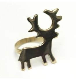 Noah's Ark Brass Deer Napkin Ring