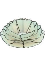 Saffy Handicrafts In Bloom Capiz Votive - Turquoise