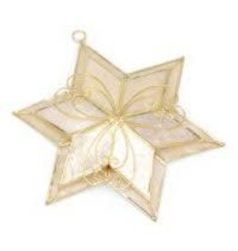 Saffy Handicrafts Gold Capiz Star Ornament