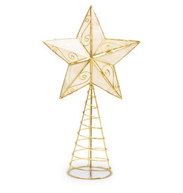 Saffy Handicrafts Gold Capiz Star Treetopper