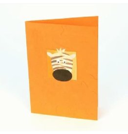 Salay Handmade Paper Industries Inc. Wishful Zebra Greeting Card