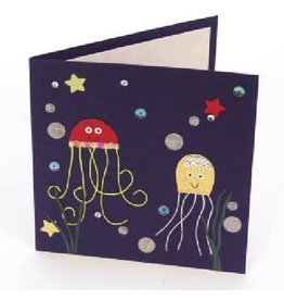 Salay Handmade Paper Industries Inc. Smiling Jellyfish Greeting Card