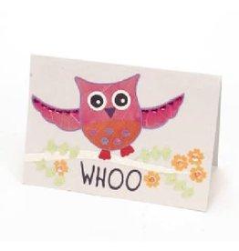Salay Handmade Paper Industries Inc. Dancing Owl Greeting Card