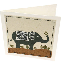 Salay Handmade Paper Industries Inc. Peaceful Elephant Greeting Card
