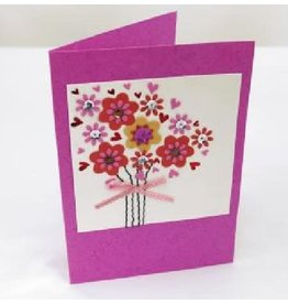 Salay Handmade Paper Industries Inc. Bright Bouquet Greeting Card