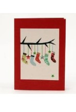 Salay Handmade Paper Industries Inc. Stockings Holiday Card
