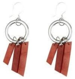 Camari Triple Tagua Earrings