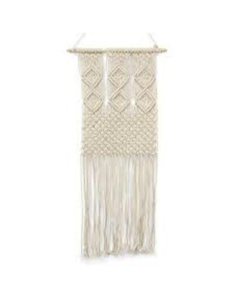 Asha Handicrafts Diamond Adorned Macrame Wall Hanging