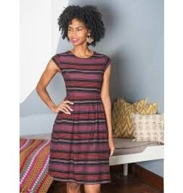 Mata Traders Devonshire Plum Striped Dress