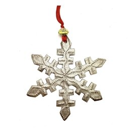 Papillon Metal Snowflake Ornament
