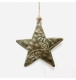 Papillon Whimsical Metal Star Ornament