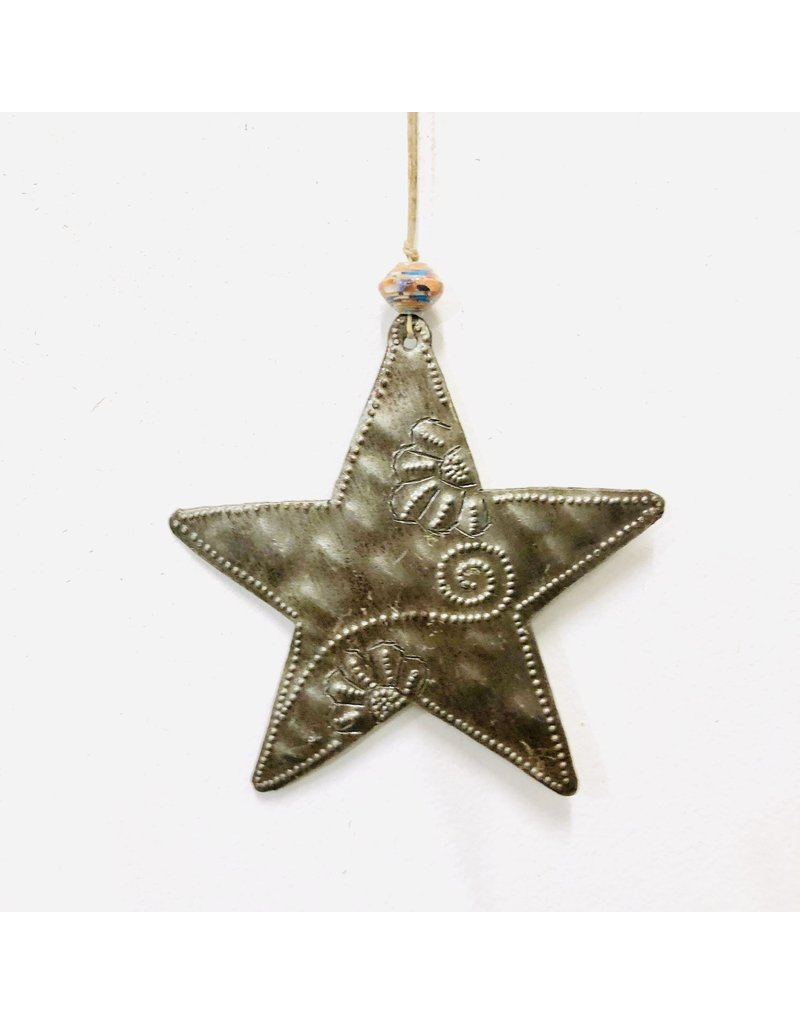 Papillon Whimsical Metal Star Ornament
