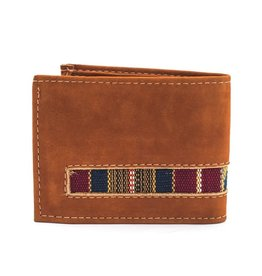 Lucia's Imports Leather Embroidered Wallet