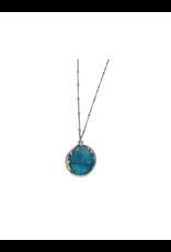 Sasha Association for Crafts Producers Turquoise Stone Pendant Necklace