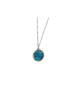 Sasha Association for Crafts Producers Turquoise Stone Pendant Necklace