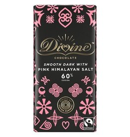 Divine Chocolate Divine Chocolate Bar Dark with Pink Himalayan Sea Salt