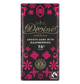 Divine Chocolate Divine Chocolate Bar Dark with Raspberries