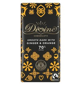 Divine Chocolate Divine Chocolate Bar Ginger & Orange