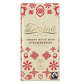 Divine Chocolate Divine Chocolate Bar White Chocolate with Strawberries