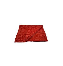 Asha Handicrafts Red Geometric Tablecloth