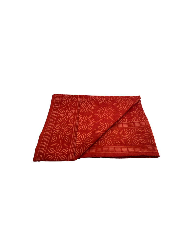 Asha Handicrafts Red Geometric Tablecloth