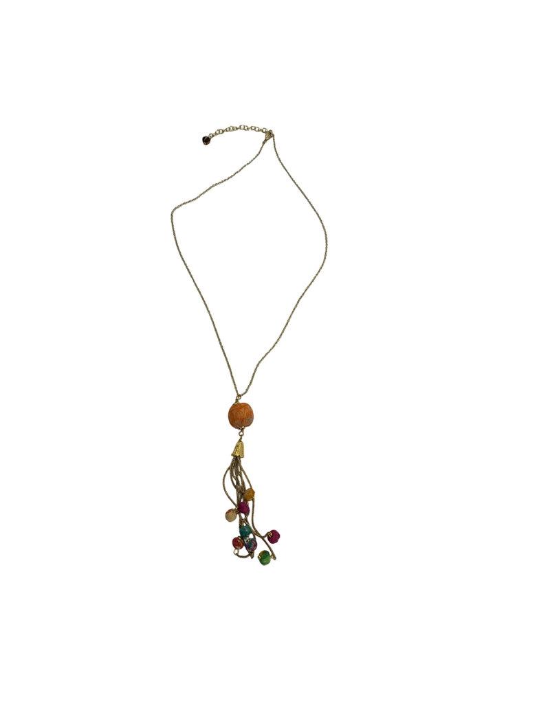 Sasha Association for Crafts Producers Recycled Sari Beaded Necklace