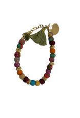 Sasha Association for Crafts Producers Recycled Fabric Beaded Bracelet
