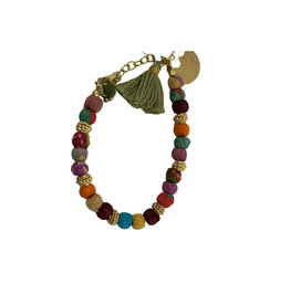 Sasha Association for Crafts Producers Recycled Fabric Beaded Bracelet