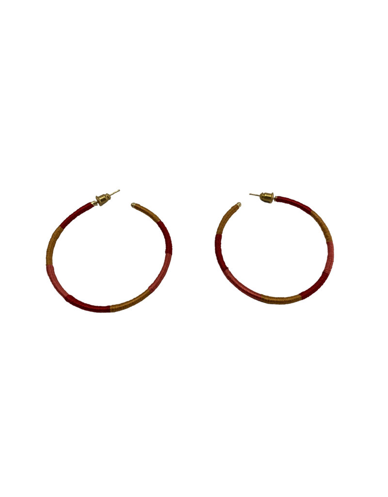 Sasha Association for Crafts Producers Golden Sunset Hooped Earrings