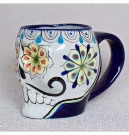 Lucia's Imports Ceramic Sugar Skull Mug