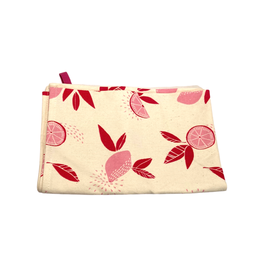 Association of Craft Producers Citrus Print Tea Towel - Pink