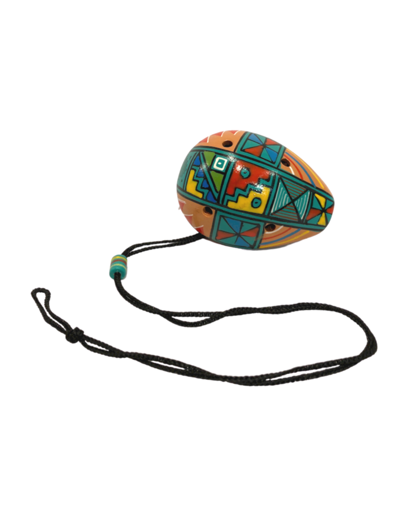 Manos Amigas Multicoloured Ceramic Ocarina Flute