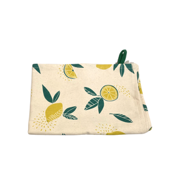 Association of Craft Producers Citrus Print Tea Towel - Yellow