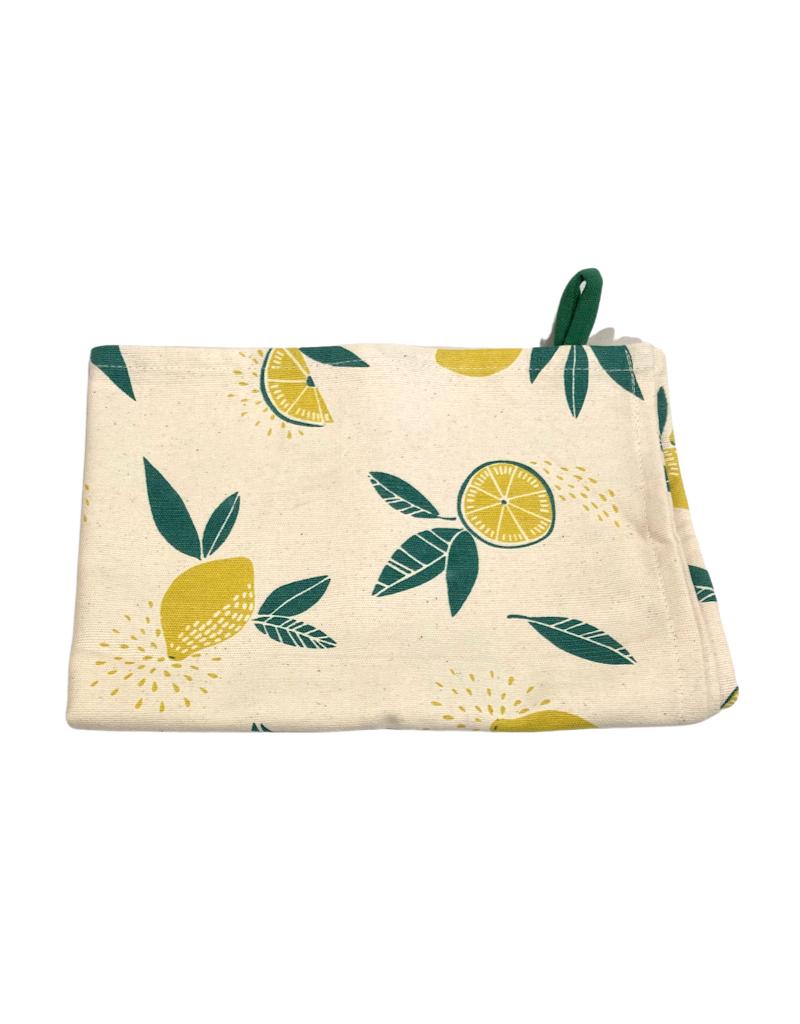 Association of Craft Producers Citrus Print Tea Towel - Yellow