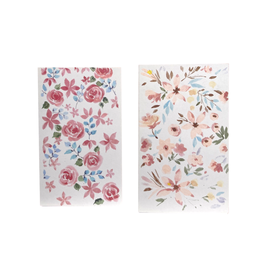 Silence Pretty Pastels Floral Greeting Cards (set of 2)