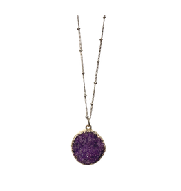 Sasha Association for Crafts Producers Purple Stone Pendant Necklace
