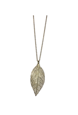 Sasha Association for Crafts Producers Leaf Pendant Necklace