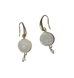 Sasha Association for Crafts Producers White Stone Earrings