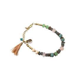Sasha Association for Crafts Producers Stone Tassel Bracelet