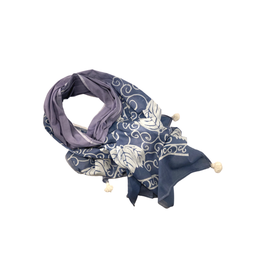 Sasha Association for Crafts Producers Blue and White Batik Scarf
