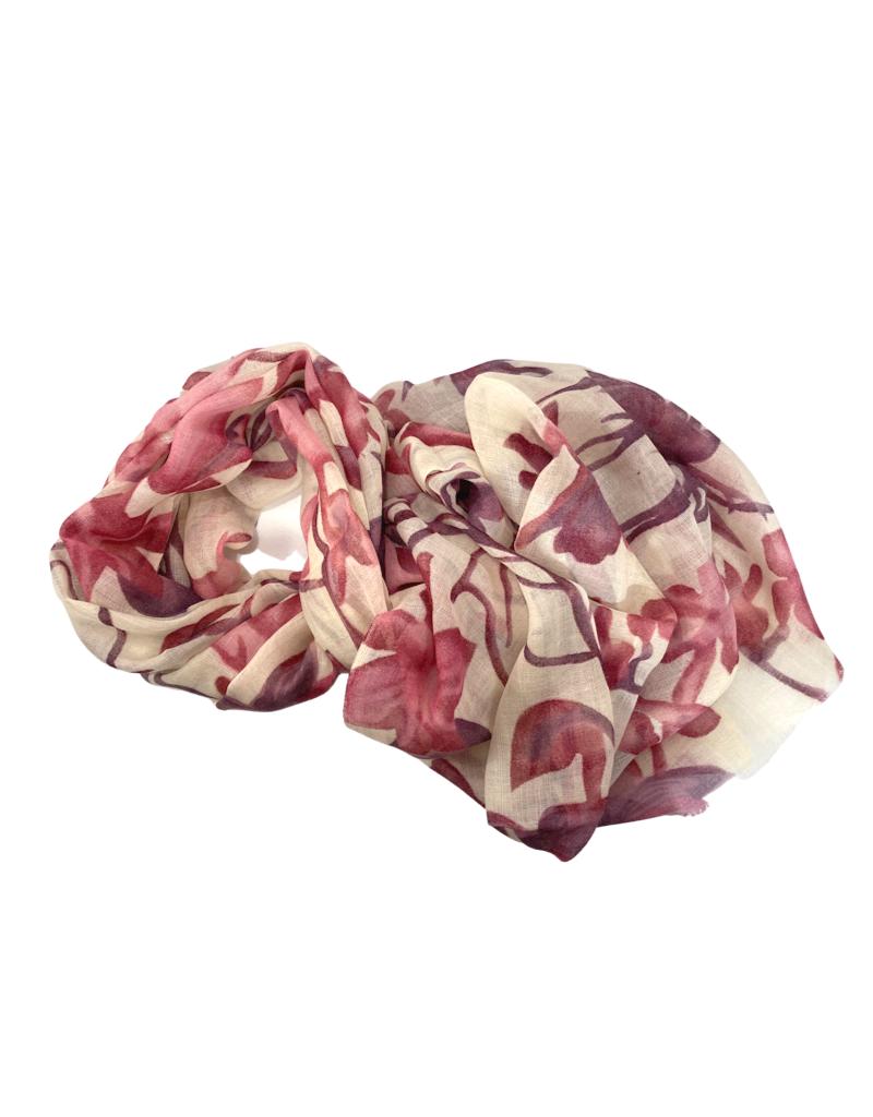 Craft Resource Center Floral Wool Scarf