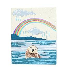 Mr. Ellie Pooh Sea Otter Greeting Card