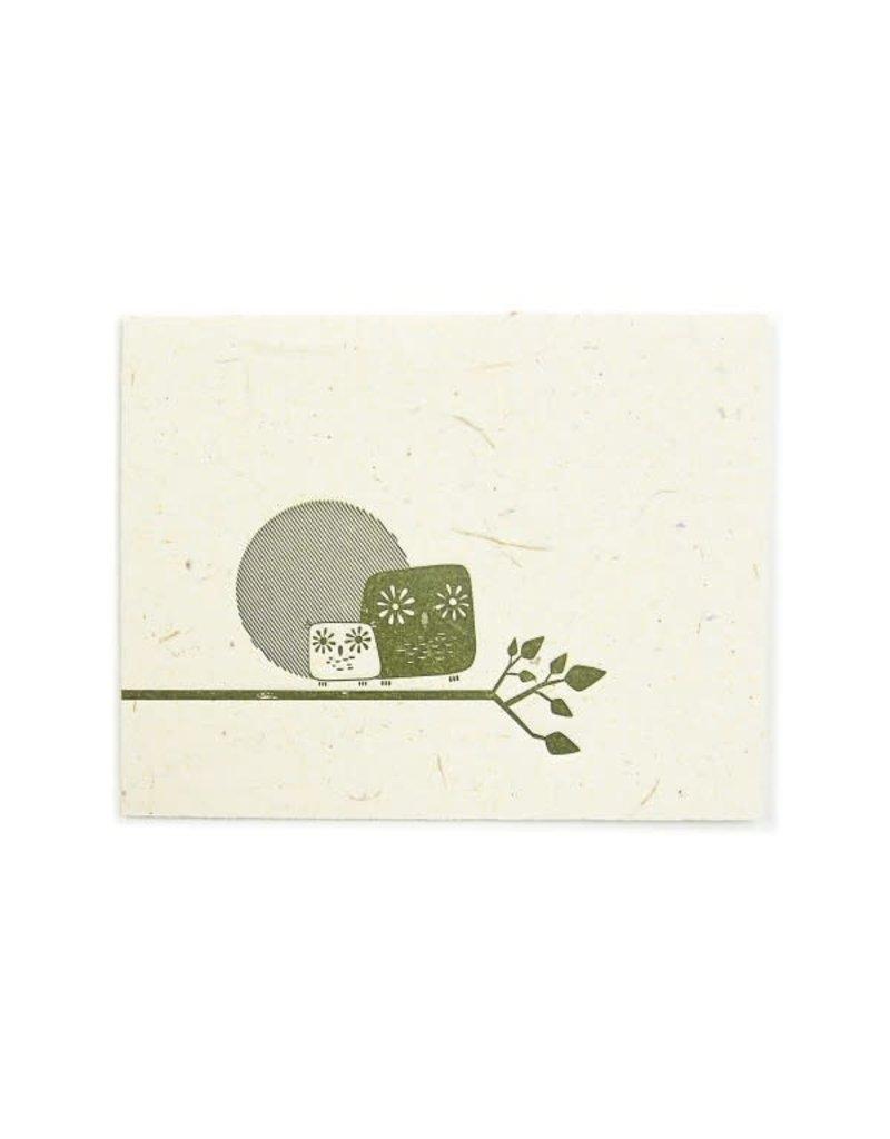 Mr. Ellie Pooh Artsy Owls Greeting Card