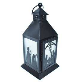 Mira Fair Trade Frosted Nativity Lantern