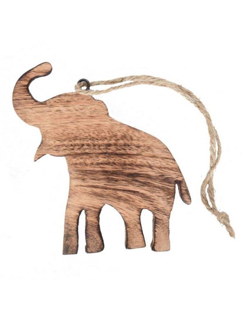Mira Fair Trade Mangowood Elephant Ornament