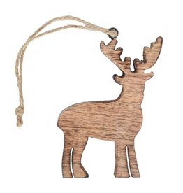 Mira Fair Trade Mangowood Reindeer Ornament