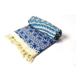Mira Fair Trade Blue Mandala Throw